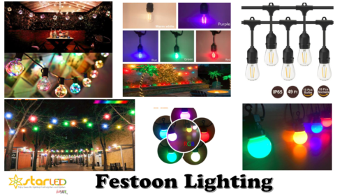 LED IP44 & IP65 Festoon Lighting