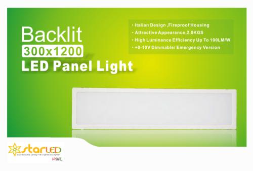 Backlit 300x1200mm LED Panel Light