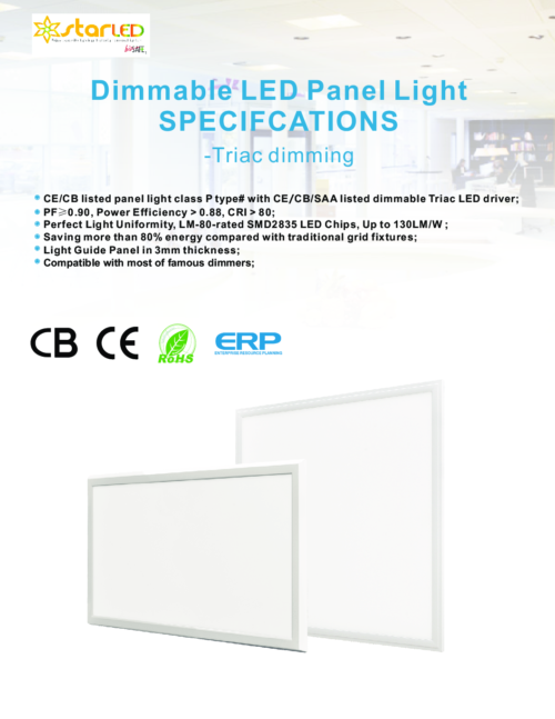 Triac Dimmable LED Panel Light