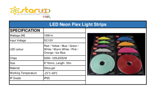 2) LED Neon Light Flex Strips