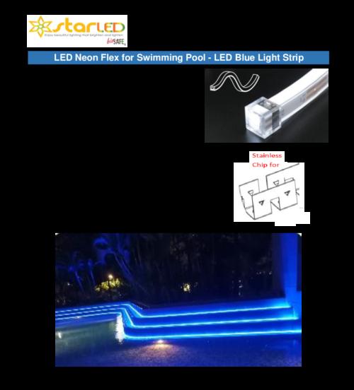 3) LED Neon Flex for Swimming Pool – LED Blue Light Strip