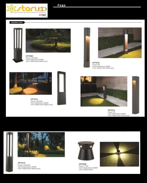 LED Garden Bollard and Lawn Light
