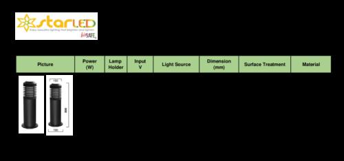 IP54 LED 8W E27 Garden Bollard