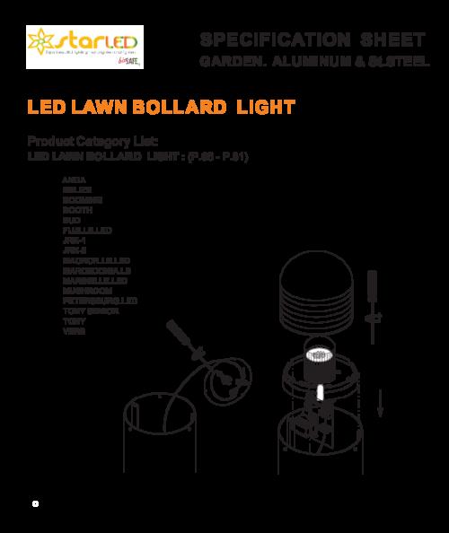 LED Lawn Bollard Light