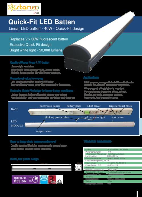 LED 40W Linear Batten Light