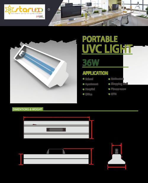 Portable UVC Light for 36W