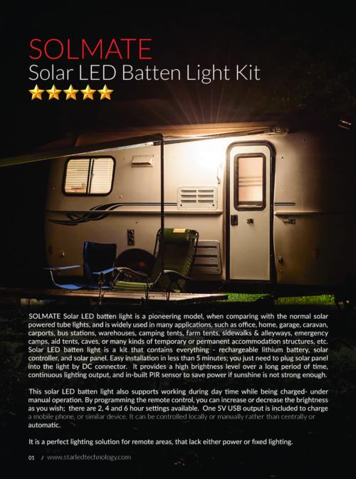 SOLMATE Solar LED Batten Light